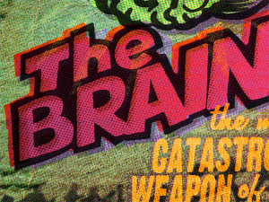 POSTER + CARD: The Brain