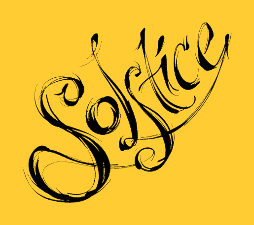 ILLUSTRATION: Solstice calligraphy